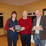Permanent TSB Tennis Classic - January 2011- Caitriona Ni Fhlaithearta (Runner Up) Tony Teehan (Sponsor) Peter McDermott (President)