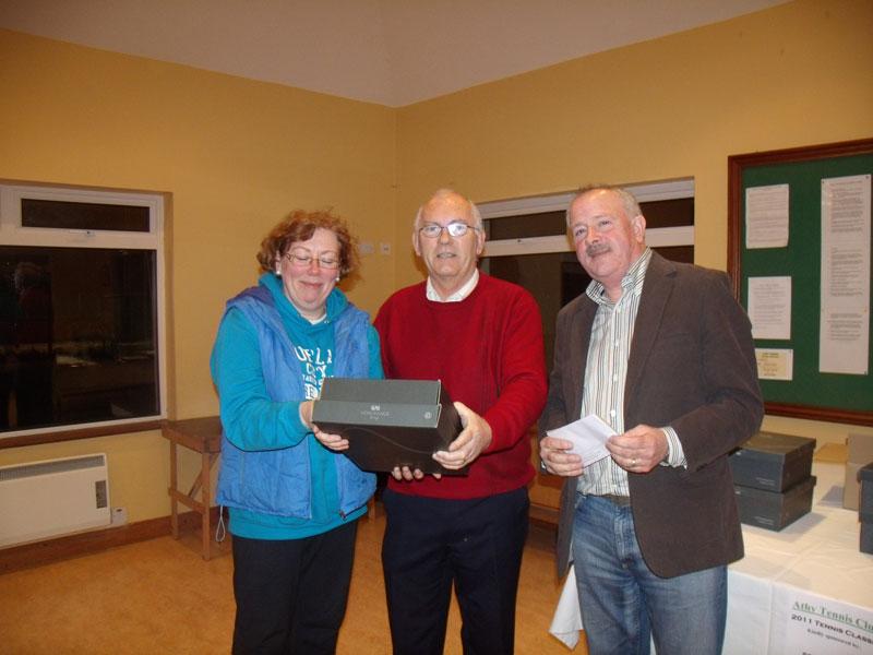 Permanent TSB Tennis Classic - January 2011- Julie Miller(ATC, Highest Individual score), Tony Teehan (Sponsor), Peter McDermott(President)