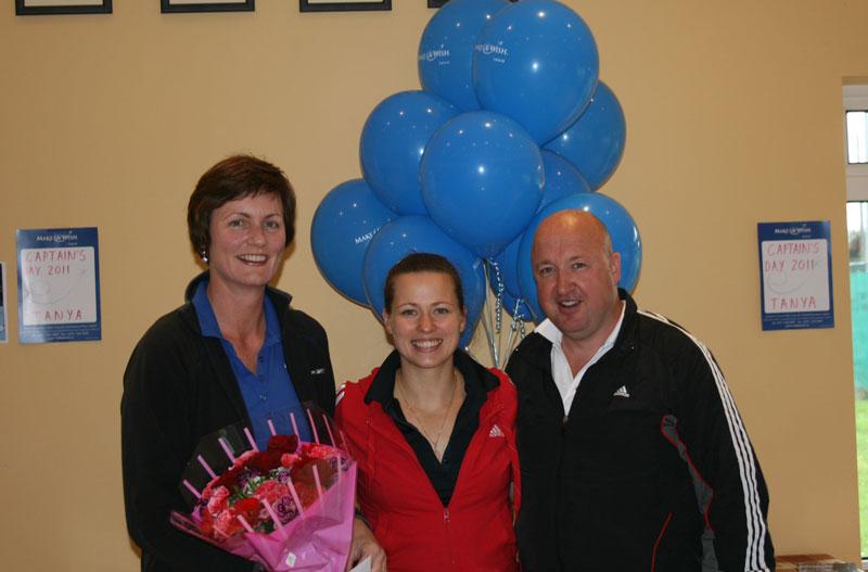 ATC Captain's Day - Charity Whistle Stop Tournament : Section B Winners - Joan McDonald/Hyland, Tetyana Shumska (club captain), John Costigan