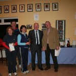 Winter Firms winners 2010. Rathangan TC. Left to Right: Mary McCrann, Padraig Doyle, Aine Doyle, Albert Dunne(Sponsor) Peter McDermott (President)