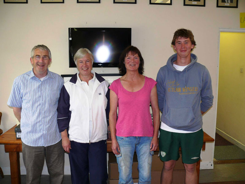 Laois League 2011 - Runner Up in B section from Athy: Eddie Brien, Judy Chambers, Caitriona Ni Fhlaithearta & James Ashmore