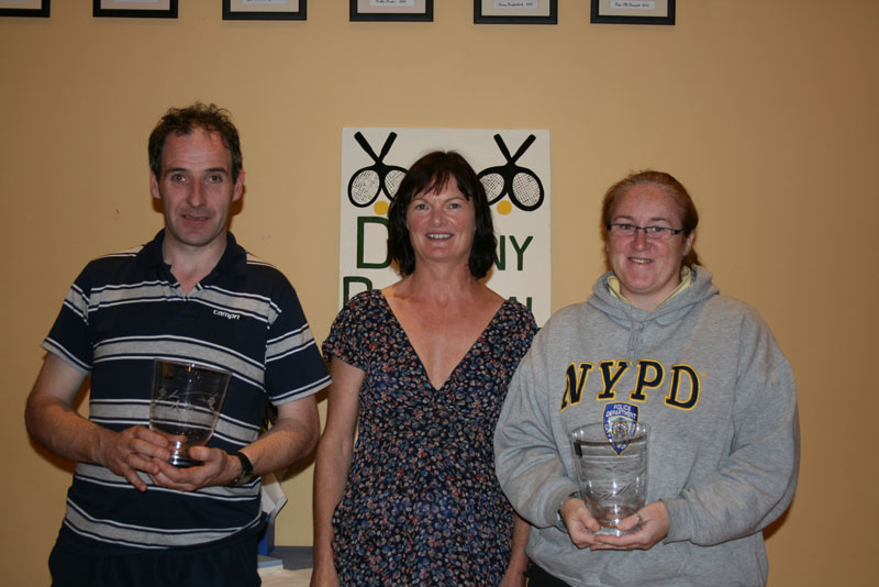 ATC Delany Perpetual Challenge Cup 2011 - C section Runner up: John Donnelly (Athy), Caitriona Ni Fhlaithearta (president), Olivia Nolan (Tullow)