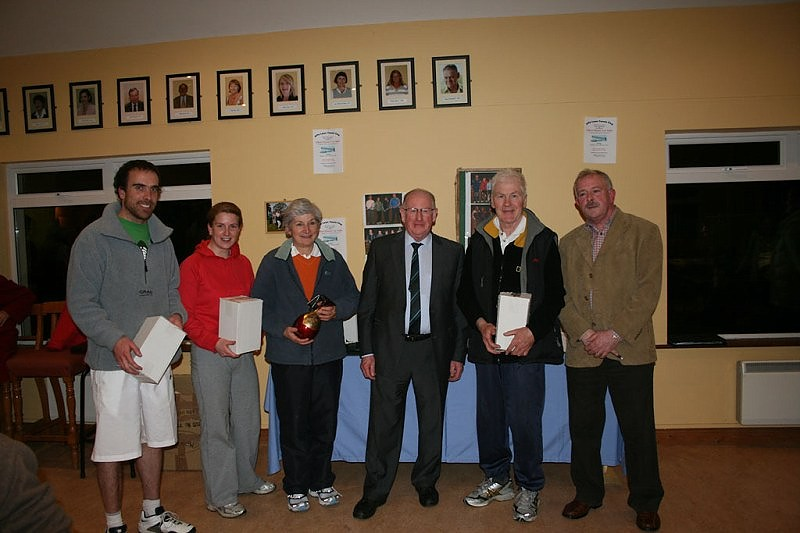 Winter Firms winners 2010 EAEC. Dan Crilly, Suzy Kavanagh, Albert Dunne (Sponsor) Tom O' Connell & Peter McDermott (President)