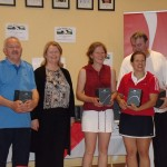 ATC Interfirms 2012 - C section runners-up, Athy - Peter McDermott, Karen Flynn, Tetyana Shumska, Billy Murphy