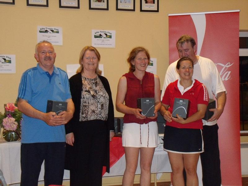 ATC Interfirms 2012 - C section runners-up, Athy - Peter McDermott, Karen Flynn, Tetyana Shumska, Billy Murphy