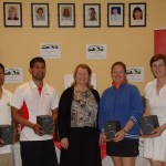 ATC Interfirms 2012 - B section runners-up, Athy - Antonino Orimaco, Pete Laput, Mary Feely, Joanne McDonald