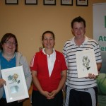 ATC Delany Perpetual Challenge Cup 2012 - C section Runners-Up: Andrea Mulhall(Athy), Tetyana Shumska (club captain), Damien O'Brien (Athy)