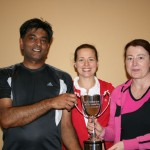 ATC Delany Perpetual Challenge Cup 2012 - C section Winners: Tariq Arshad (Carlow), Tetyana Shumska (club captain), Kathleen Flanagan (Tullow)