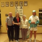 Delany Cup 2010 Runners Up Group C- Peter McDermott (ATC president), Miriam Rowan, P.R.O. Peggy Delany, Noel Lambe,