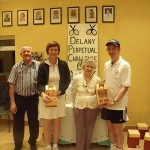 Delany Cup 2010 Runners Up Group B- Peter McDermott (ATC president), Joan McDonald Hyland (Athy TC), P.R.O. Peggy Delany, John Lynch (Birr)