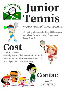 Add Junior Tennis Lessons 2017