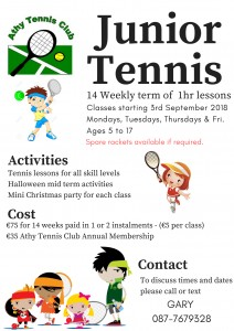 JuniorTennis poster Sept 2018