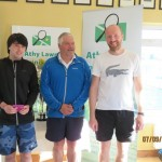 Group 1 Winners- Kristian Redmond, Colin Braithwaite Club President & Sergiy Ksenych