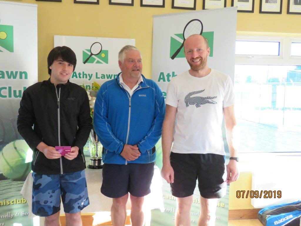 Group 1 Winners- Kristian Redmond, Colin Braithwaite Club President & Sergiy Ksenych