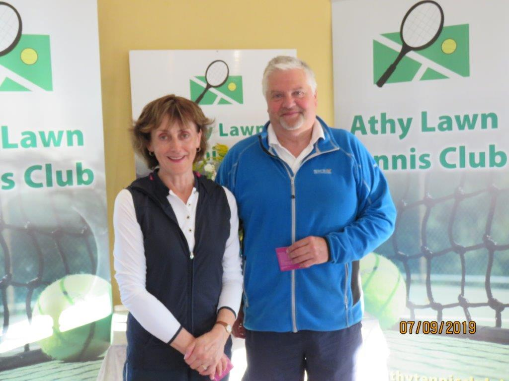 Group 2 Runner up- Maureen McCauley with club president Colin Braithwaite & Jonas Butkus (Not in picture)