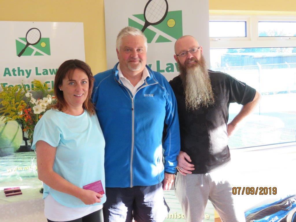 Group 3 Winners- Anita Gordon, club president Colin Braithwaite & Brian Delaney