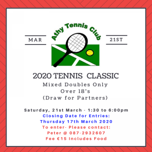 Tennis Classic 2020 rescheduled