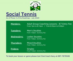 Social Tennis July 2020